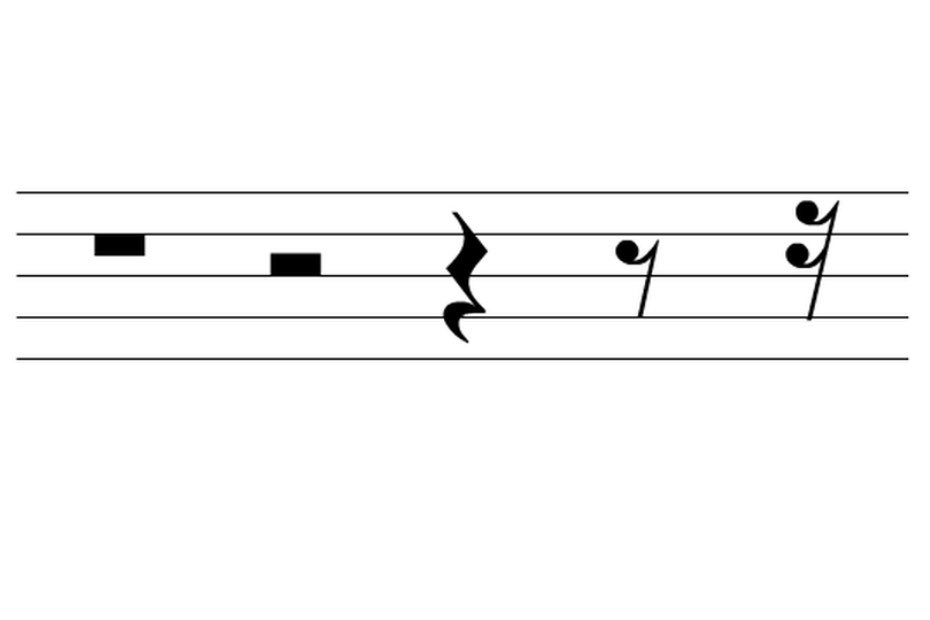 Rest duration musical notes