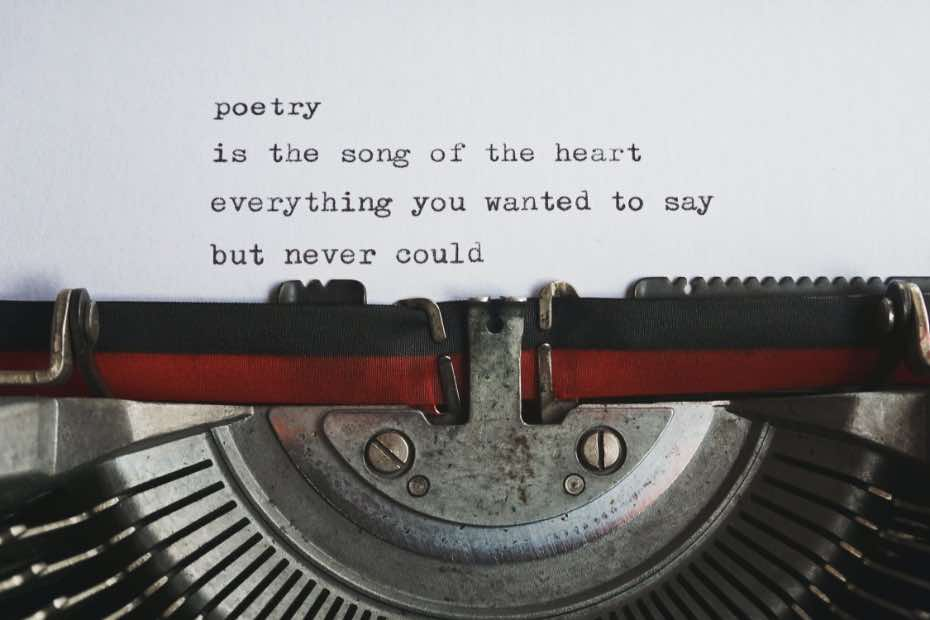 Funeral poetry words about poetry
