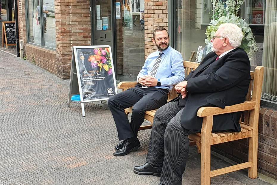 Happy to Chat Bench Stone Funeralcare