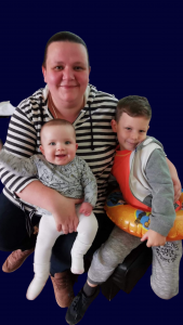 Amy Griffiths with her children