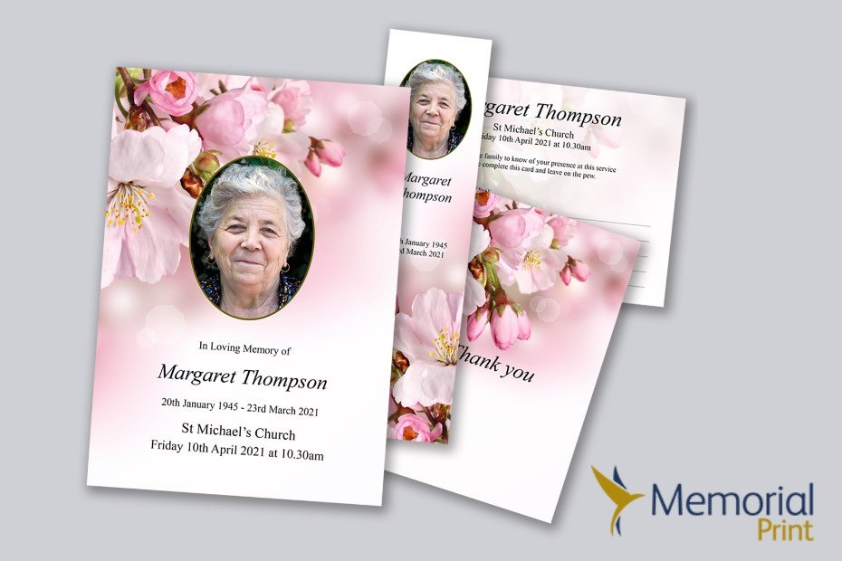 Memorial Print logo and order of service example